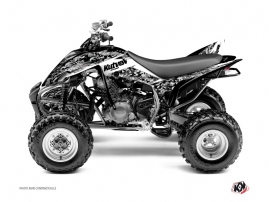Yamaha 350 Raptor ATV Predator Graphic Kit White