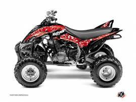 Yamaha 350 Raptor ATV Predator Graphic Kit Red