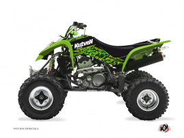 Kawasaki 400 KFX ATV Predator Graphic Kit Black Green