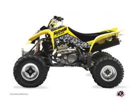 Suzuki 400 LTZ ATV Predator Graphic Kit Yellow