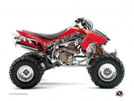 Honda 400 TRX ATV Predator Graphic Kit Black Red