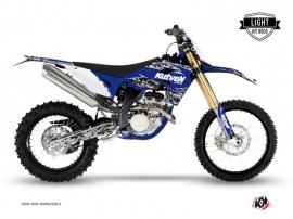 Kit Déco Moto Cross Predator Sherco 450 SEF R Noir Bleu LIGHT