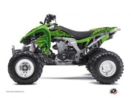 Kawasaki 450 KFX ATV Predator Graphic Kit Black Green