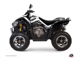 Kymco 450 MAXXER ATV Predator Graphic Kit White
