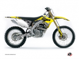 Suzuki 450 RMZ Dirt Bike Predator Graphic Kit Yellow