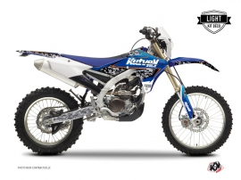 Kit Déco Moto Cross Predator Yamaha 450 WRF Noir Bleu LIGHT