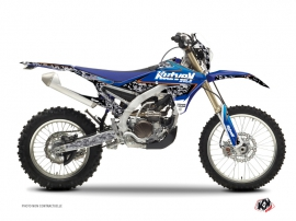 Kit Déco Moto Cross Predator Yamaha 450 WRF Noir Bleu