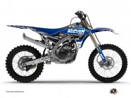 Yamaha 450 YZF Dirt Bike Predator Graphic Kit Black Blue
