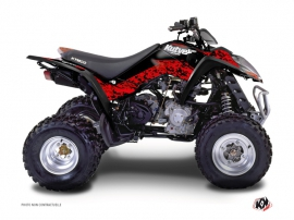 Kymco 50 MAXXER ATV Predator Graphic Kit Red Black