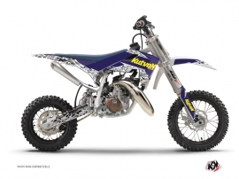 Husqvarna TC 50 Dirt Bike Predator Graphic Kit Purple Yellow