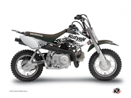 Honda 50 CRF Dirt Bike Predator Graphic Kit White