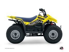 Suzuki 50 LT ATV Predator Graphic Kit Yellow