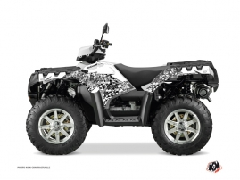Polaris 500-800 Sportsman Forest ATV Predator Graphic Kit White