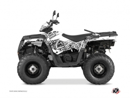 Polaris 570 Sportsman Forest ATV Predator Graphic Kit White