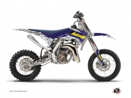 Husqvarna TC 65 Dirt Bike Predator Graphic Kit Purple Yellow
