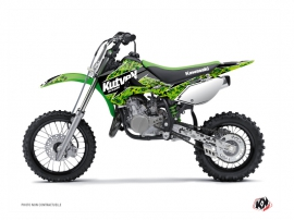 Kawasaki 65 KX Dirt Bike Predator Graphic Kit Black Green