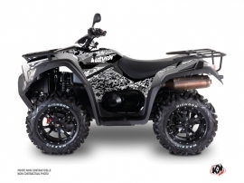 Kymco 700 MXU ATV Predator Graphic Kit Grey