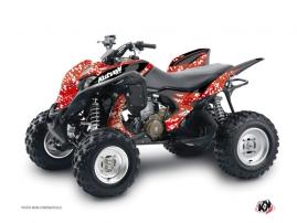 Honda 700 TRX ATV Predator Graphic Kit Red