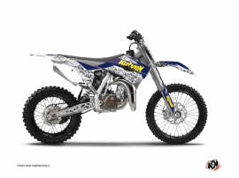 Husqvarna TC 85 Dirt Bike Predator Graphic Kit Purple Yellow