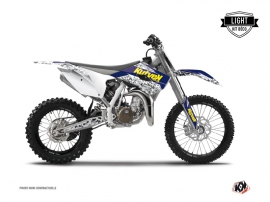 Husqvarna TC 85 Dirt Bike Predator Graphic Kit Purple Yellow LIGHT