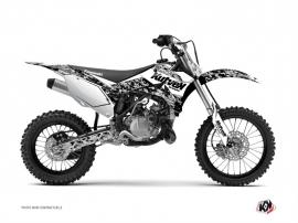 Kawasaki 85 KX Dirt Bike Predator Graphic Kit White
