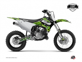 Kit Déco Moto Cross Predator Kawasaki 85 KX Noir Vert LIGHT