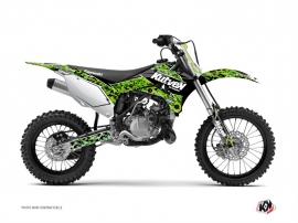 Kawasaki 85 KX Dirt Bike Predator Graphic Kit Black Green