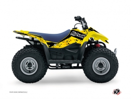 Suzuki 90 LTZ ATV Predator Graphic Kit Black Yellow