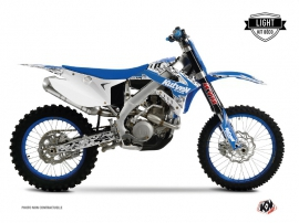 TM EN 125 Dirt Bike Predator Graphic Kit Blue LIGHT