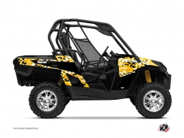 Can Am Commander UTV Predator Graphic Kit Black Yellow