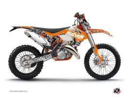 KTM EXC-EXCF Dirt Bike Predator Graphic Kit Orange