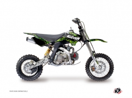 YCF F150 Dirt Bike Predator Graphic Kit Black Green