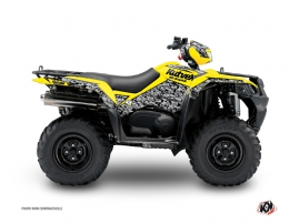 Suzuki King Quad 750 ATV Predator Graphic Kit Yellow