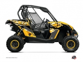 Can Am Maverick UTV Predator Graphic Kit Black Yellow