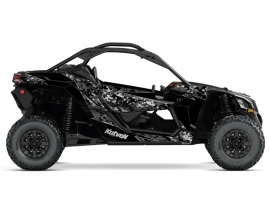 Can Am Maverick X3 UTV Predator Graphic Kit Black Grey