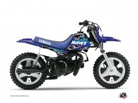Yamaha PW 50 Dirt Bike Predator Graphic Kit Black Blue