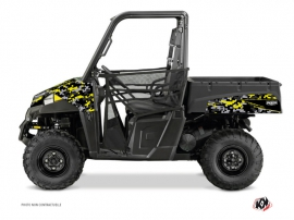 Polaris Ranger 570 UTV Predator Graphic Kit Black Grey Yellow