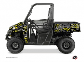 Polaris Ranger 900 UTV Predator Graphic Kit Black Grey Yellow