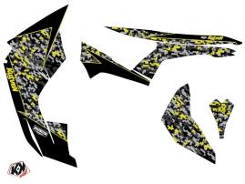 Can Am Renegade ATV Predator Graphic Kit Black Grey Yellow