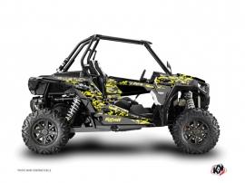 Polaris RZR 1000 UTV Predator Graphic Kit Black Grey Yellow