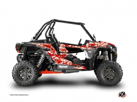 Polaris RZR 1000 Turbo UTV Predator Graphic Kit Red
