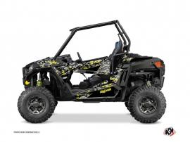 Polaris RZR 900 S UTV Predator Graphic Kit Black Grey Yellow