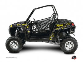 Polaris RZR 900 XP Dirt Bike Predator Graphic Kit Black Grey Yellow