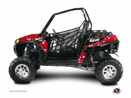 Polaris RZR 900 XP UTV Predator Graphic Kit Red