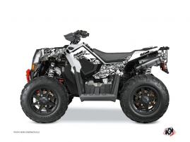 Polaris Scrambler 850-1000 XP ATV Predator Graphic Kit White