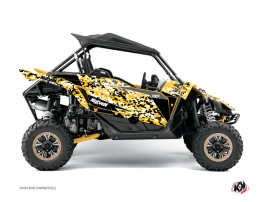 Yamaha YXZ 1000 R UTV Predator Graphic Kit Black Yellow