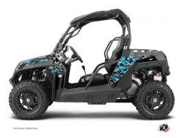 CF Moto Z Force 800 UTV Predator Graphic Kit Black Turquoise