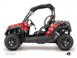 CF Moto Z Force 800 UTV Predator Graphic Kit Red