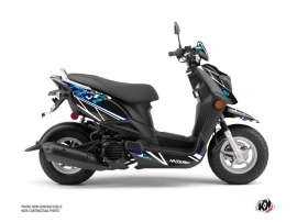 Yamaha ZUMA 50FX Scooter Predator Graphic Kit Black Blue