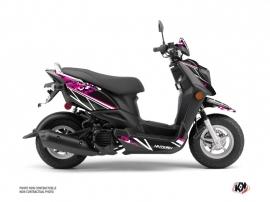 Yamaha ZUMA 50FX Scooter Predator Graphic Kit Black Pink